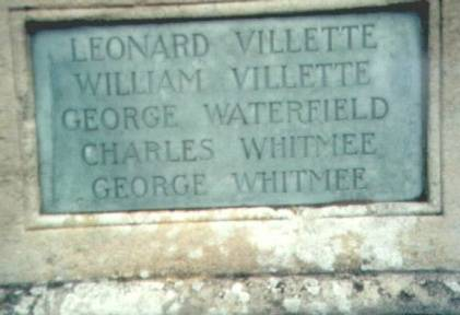 george&charles on gretton war memorial